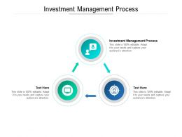 Investment Management Process Ppt Powerpoint Presentation Icon Example Cpb