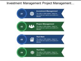 Investment Management Project Management Quality Management Scheduling Management Cpb