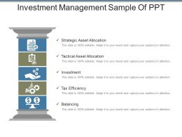 Investment Management Sample Of Ppt