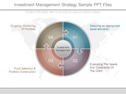 Investment Management Strategy Sample Ppt Files