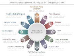 Investment Management Techniques Ppt Design Templates