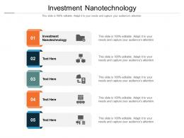 Investment Nanotechnology Ppt Powerpoint Presentation Layouts Structure Cpb