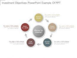 Investment Objectives Powerpoint Example Of Ppt