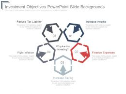 Investment Objectives Powerpoint Slide Backgrounds