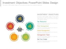 Investment Objectives Powerpoint Slides Design