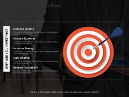 Investment Objectives Ppt Powerpoint Presentation File Icon