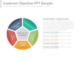 Investment Objectives Ppt Samples