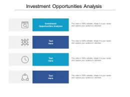 Investment Opportunities Analysis Ppt Powerpoint Presentation Infographics Tips Cpb