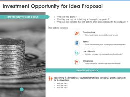 Investment Opportunity For Idea Proposal Ppt Powerpoint Presentation Ideas