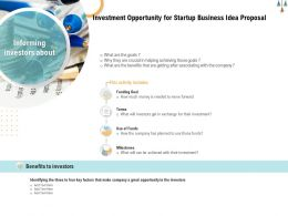 Investment Opportunity For Startup Business Idea Proposal Ppt Powerpoint Presentation Infographics