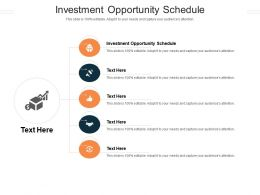 Investment Opportunity Schedule Ppt Powerpoint Presentation Layouts Show Cpb
