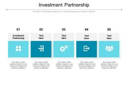Investment Partnership Ppt Powerpoint Presentation Infographics Gridlines Cpb