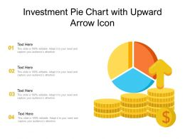 Investment Pie Chart With Upward Arrow Icon