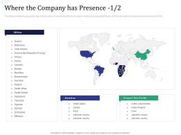 Investment Pitch Raise Funds Financial Market Where The Company Has Presence Geographic Ppt Grid