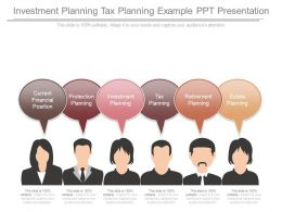 Investment Planning Tax Planning Example Ppt Presentation