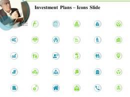 Investment Plans Icons Slide Ppt Slides Ideas