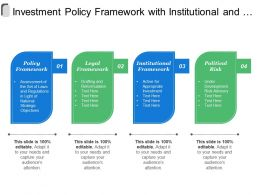 Investment Policy Framework With Institutional And Political Risk