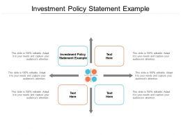 Investment Policy Statement Example Ppt Powerpoint Presentation Slides Cpb