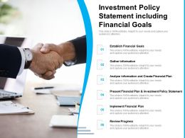 Investment Policy Statement Including Financial Goals