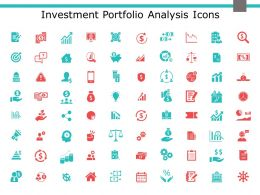 Investment Portfolio Analysis Icons Currency Ppt Powerpoint Presentation Model