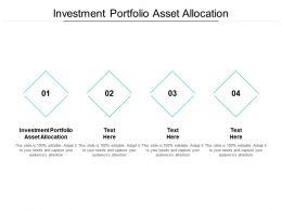 Investment Portfolio Asset Allocation Ppt Powerpoint Presentation Layouts Portfolio Cpb