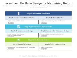 Investment Portfolio Design For Maximizing Return