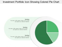 Investment Portfolio Icon Showing Colored Pie Chart