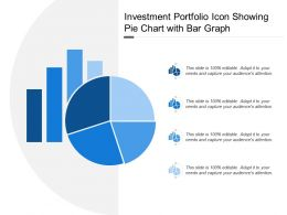 Investment Portfolio Icon Showing Pie Chart With Bar Graph