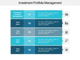 Investment Portfolio Management Ppt Powerpoint Presentation Inspiration Ideas Cpb