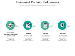 Investment Portfolio Performance Ppt Powerpoint Presentation Styles Background Images Cpb