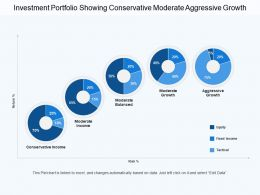 Investment Portfolio Showing Conservative Moderate Aggressive Growth