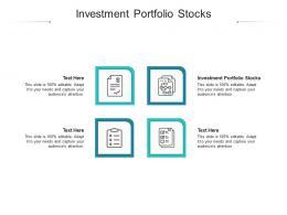 Investment Portfolio Stocks Ppt Powerpoint Presentation Portfolio Graphics Tutorials Cpb