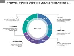 Investment Portfolio Strategies Showing Asset Allocation Include Fixed Income And Private Equity