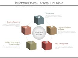 Investment Process For Small Ppt Slides