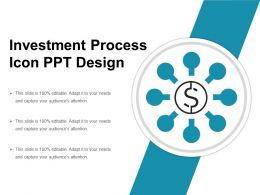 Investment Process Icon Ppt Design