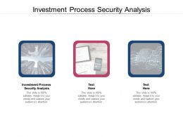 Investment Process Security Analysis Ppt Powerpoint Presentation Icon Background Images Cpb