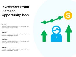 Investment Profit Increase Opportunity Icon