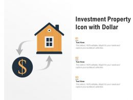 Investment Property Icon With Dollar