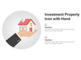 Investment Property Icon With Hand