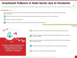 Investment Pullback In Hotel Sector Due To Pandemic Assets Ppt Powerpoint Presentation Example