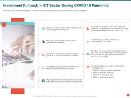 Investment Pullback In ICT Sector During COVID 19 Pandemic Ability Ppt Powerpoint Presentation Icon Ideas
