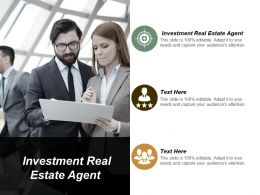 Investment Real Estate Agent Ppt Powerpoint Presentation Pictures Examples Cpb