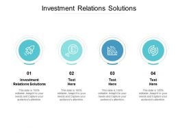 Investment Relations Solutions Ppt Powerpoint Presentation Summary Grid Cpb