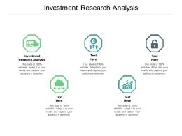 Investment Research Analysis Ppt Powerpoint Presentation Summary Slides Cpb