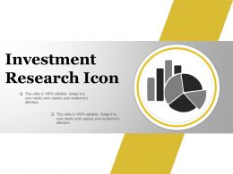 Investment Research Icon Ppt Model