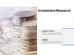 Investment Research Ppt Powerpoint Presentation Infographics Show Cpb