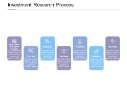 Investment Research Process Ppt Powerpoint Presentation File Deck Cpb