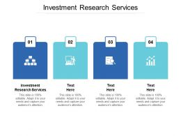Investment Research Services Ppt Powerpoint Presentation Outline Microsoft Cpb