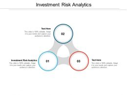 Investment Risk Analytics Ppt Powerpoint Presentation Layouts Maker Cpb