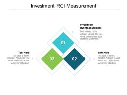Investment ROI Measurement Ppt Powerpoint Presentation Layouts Cpb
